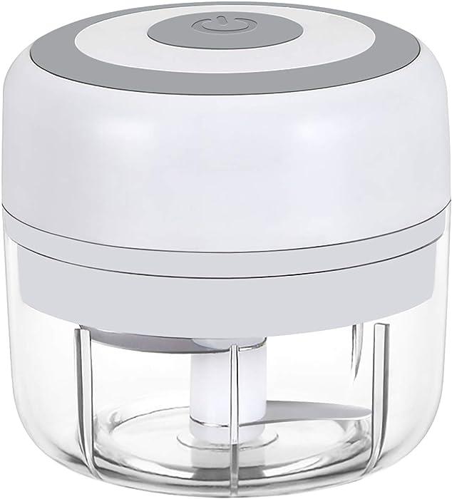 Electric Mini Garlic Chopper Slicer, Wireless Portable Food Chopper processor, Palm sized blender for Fruits Garlic/Fruits/Vegetables/Onions/Nuts/Pepper/Ginger/Salad - Kitchen gadget