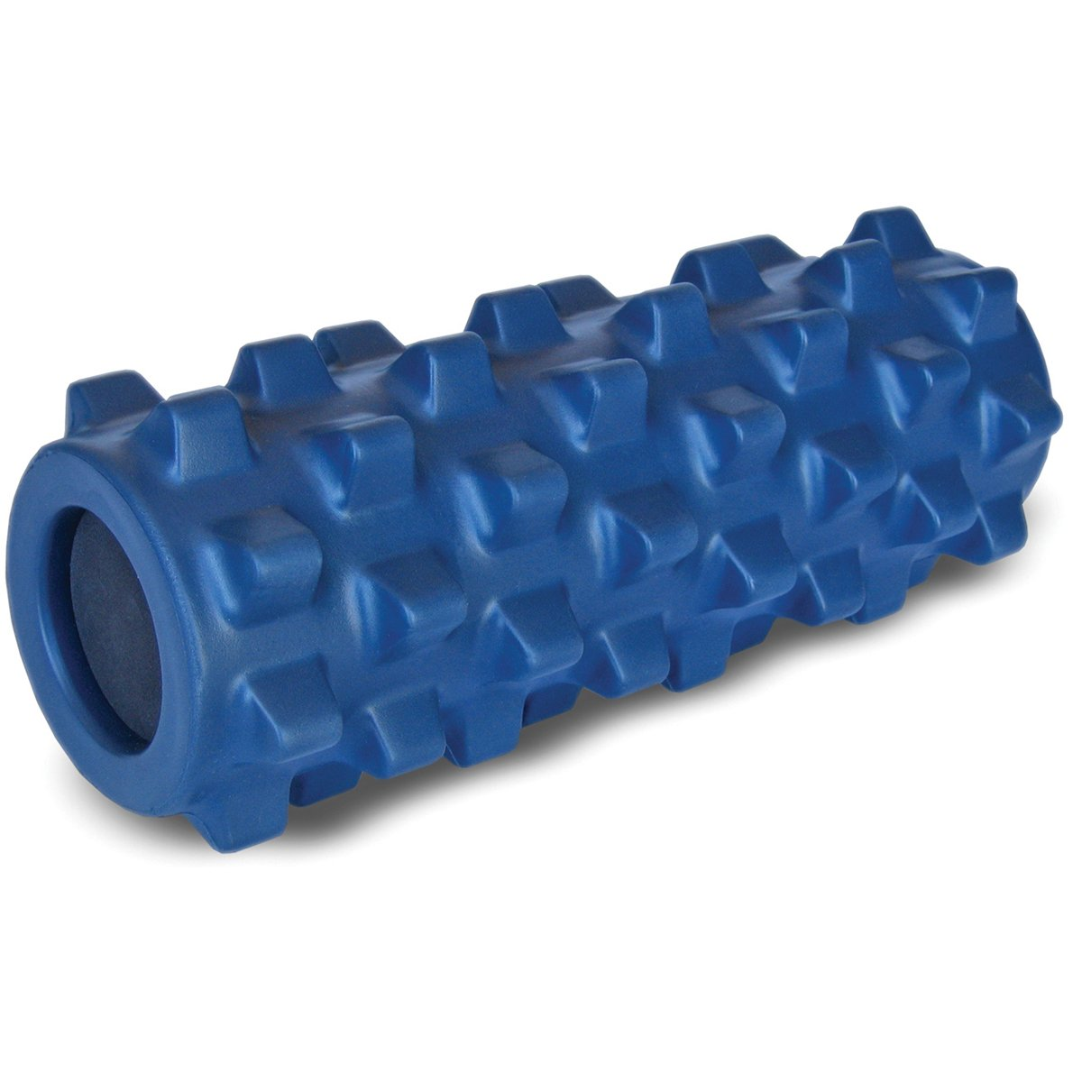 RumbleRoller RRC126 - Half Size 12 Inches - Blue - Original - Textured Muscle Foam Roller - Relieve Sore Muscles- Your Own Portable Massage Therapist - Patented Foam Roller Technology