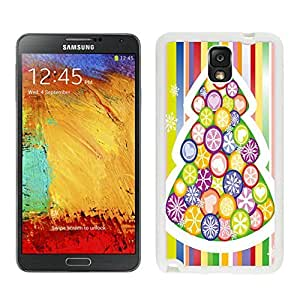 Galaxy Note 3 Case,Rainbow Color Christmas Tree Black TPU Note 3 Case-Christmas Series Samsung Note 3 Case