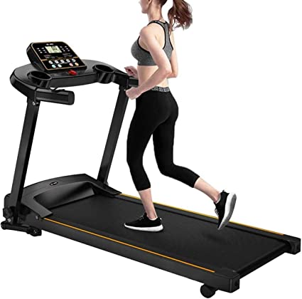 Asolldo Treadmills for Home 300 lbs Weight Capacity Electric Folding Running Jogging Machine with LCD Display Gym Cardio Fitness