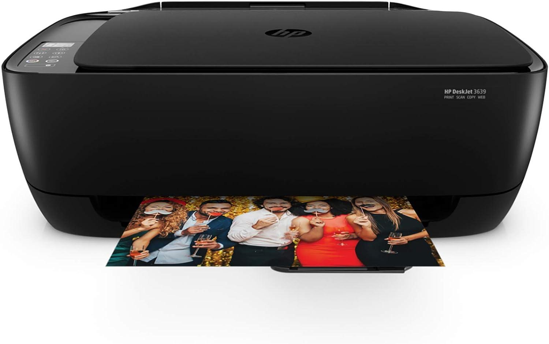 HP Deskjet 3639 Wireless All-in-One Printer (K4T98A), Large, Black, Model:K4T98A#B1H