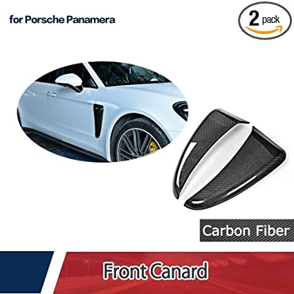 Jcsportline fits Porsche Panamera 2017-2018 Carbon Fiber Replacement Side Air Vent Fender Trims