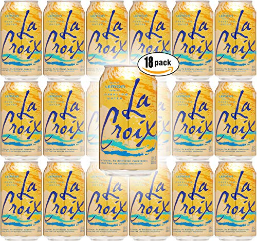 La Croix Lemon Naturally Essenced Flavored Sparkling Water, 12 oz Can (Pack of 18, Total of 216 Oz)