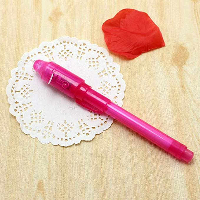 7 Pack Boliaman Invisible Ink Pen Spy Pen with UV Secret Message Writer Magic Marker for Drawing Fun Activity Kids Party Favors Ideas Gifts and Stock Stuffer