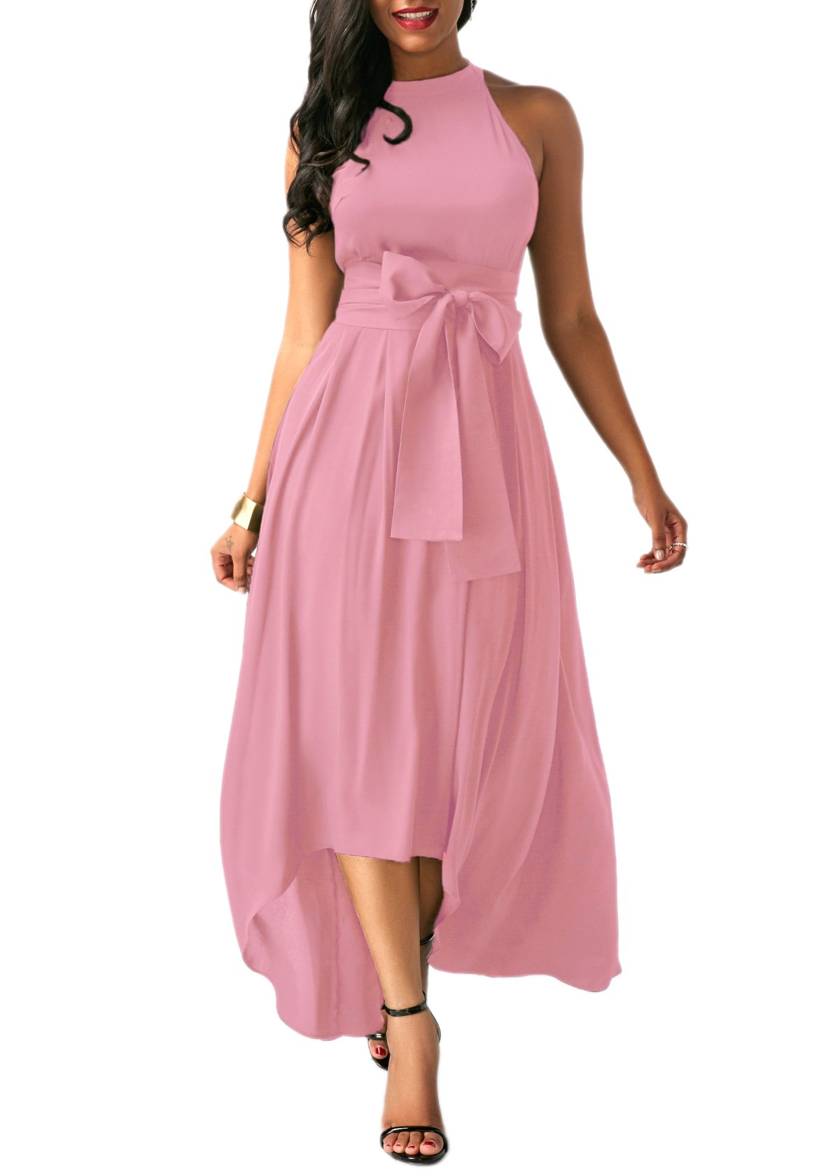 Lalagen Womens Plus Size Sleeveless Belted Party Maxi Dress with Cardigan by Lalagen (Image #3)