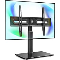 "FITUEYES Universal TV Stand with Mount for 32""-65 inch Flat Curved Screen with 60 Degree Swivel & 4 Level Height…"