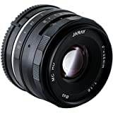 JARAY 35mm f/1.6 Manual Focus Sharp High Aperture Prime Lens for Sony E-Mount APS-C Mirrorless