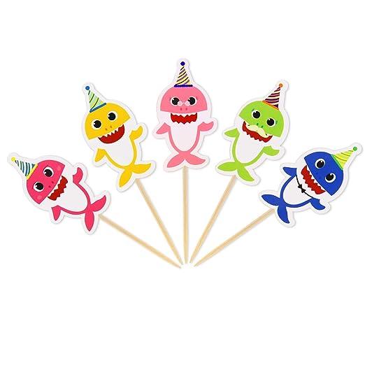 Baby Shark Cupcake Toppers Shark Theme Party Baby Shark