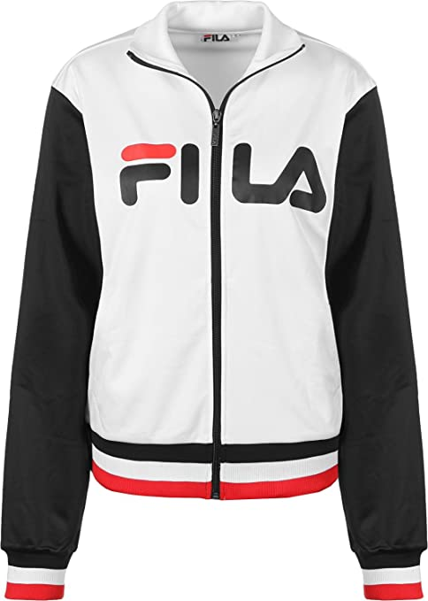 Fila Skylar W Chaqueta de deporte bright white/black: Amazon ...