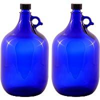 2 x 5 Litros glasballonflasche EN AZUL Galón