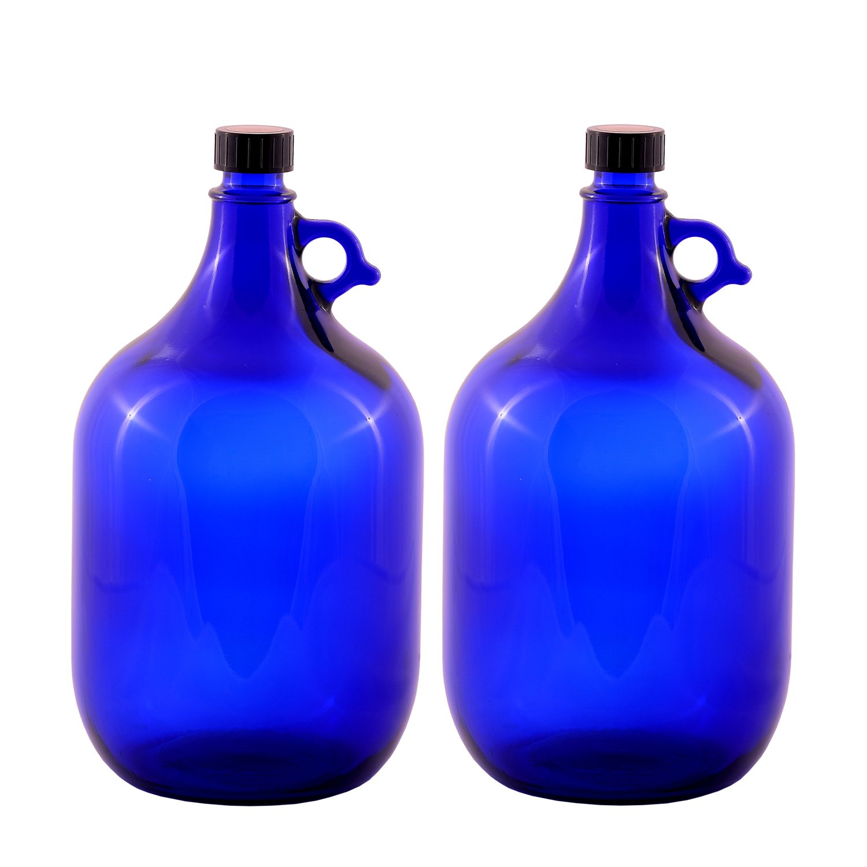 LGL Haushaltswaren 2X 5Litri Ballon Bottiglia in Vetro Blu gallone