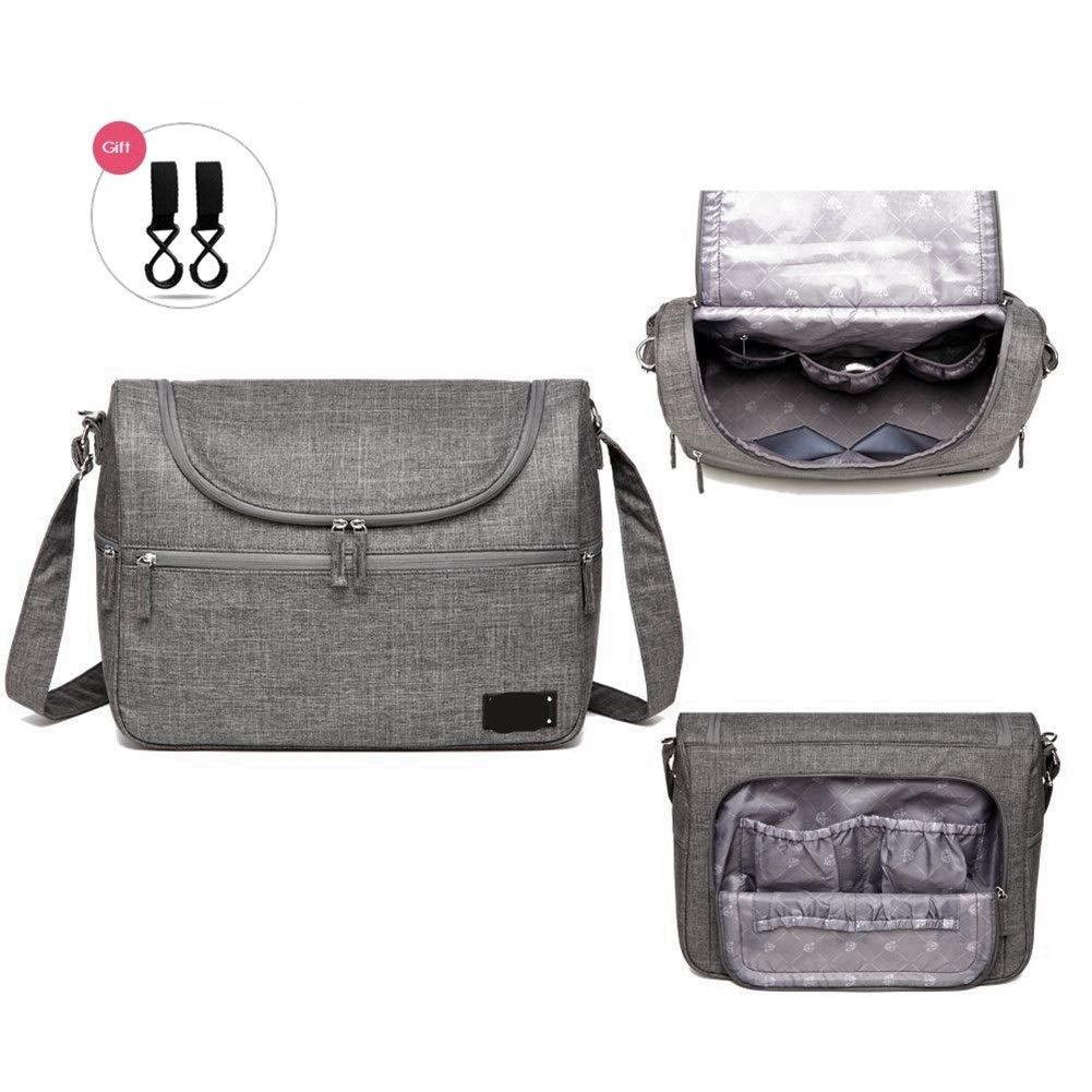 Color : Gray-One size Sacs For B/éb/é Messenger Grand Sac /À Langer Organisateur Conception Sacs /À Langer For Maman Mode M/ère Sac De Maternit/é Poussette