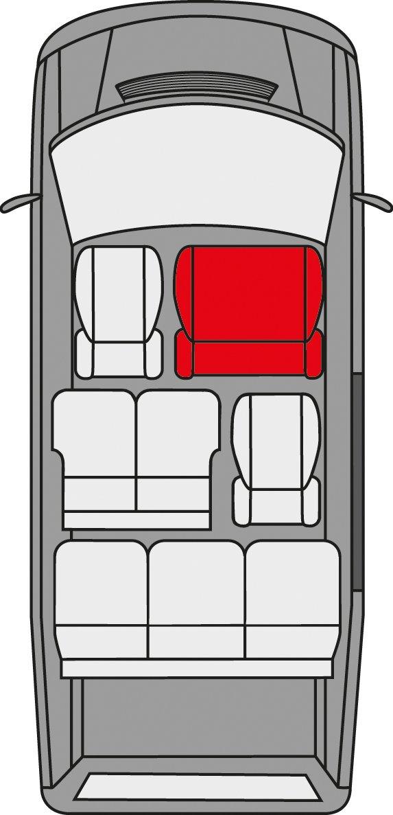 Walser Sitzbezug f/ür Doppelbank vorne