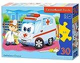 Castorland B-03471 Classic Ambulance Doctor Contour Jigsaw Puzzle, 30 Pieces Set, Multi