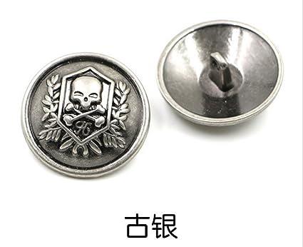 Amazon com: Wholesales 100pcs High-grade Skull Head metal