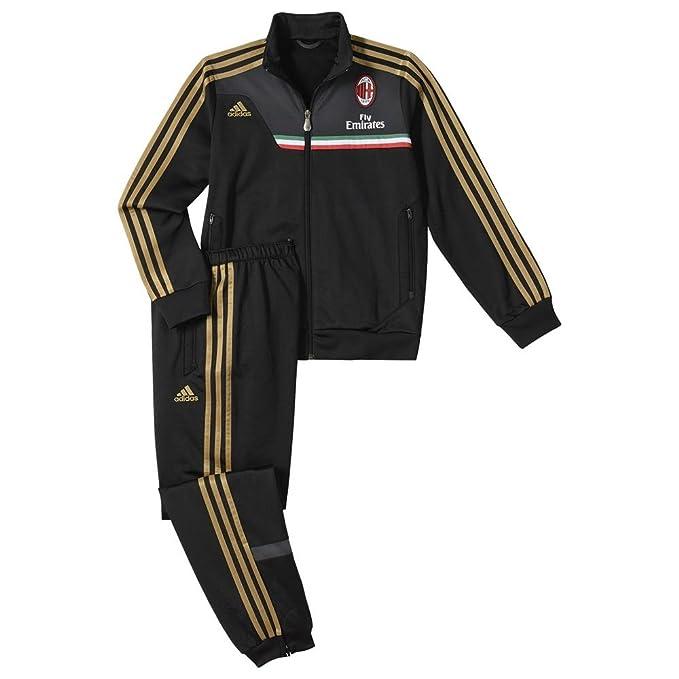 adidas AC Milan poliéster Chándal para Junior, Black - Grey - Gold ...
