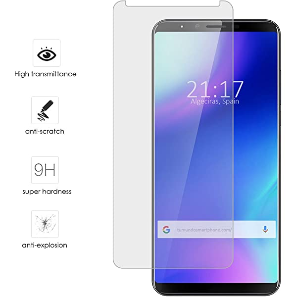 Tumundosmartphone Protector Cristal Templado para CUBOT X18 Plus ...