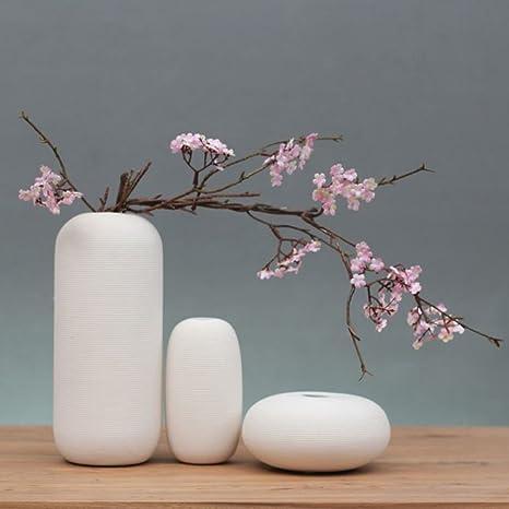 Fly Zen Japonais Pur Blanc Vase En Céramique Fleur Maison Tv