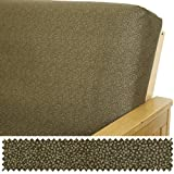 Safari Pebble Futon Cover Queen 5pc Pillow set 82