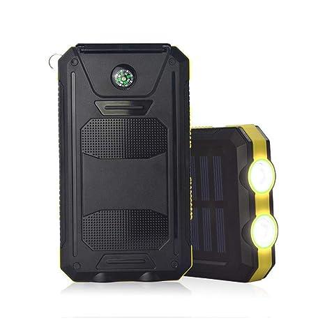 Elesoi 100000mAh USB Portable Solar Cargador de batería LED ...