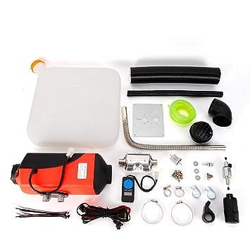 12V 5KW Calefactores Calentador de Aire Diesel Parking Heater 5000W Aire Calefacción Stand: Amazon.es: Coche y moto