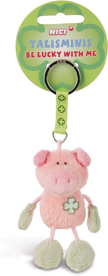 Nici 33687 33687 Schwein Beanbag Schlüsselanhänger Talismin 7 Cm Rosa Grün Spielzeug