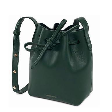 980e13b7 Amazon.com: Chibi-store bucket bag mansur women Split leather ...
