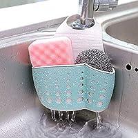 ZORO INTERNATIONAL Plastic Kitchen Bathroom Sponge Soap Water Draining Hanging Holder Organizer for Faucet Sink Caddy (Random Colour, Standard Size)
