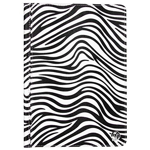 Apple iPad Air 2 VanGoddy Mary Portfolio Case with Sleep Mode and Stand (Black and White Zebra)