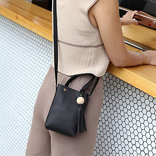 Shoulder Handbag ZOMUSA Sale Messenger Vintage Hot Small Fashion Bags Mini Tassel Black qzBU1g7