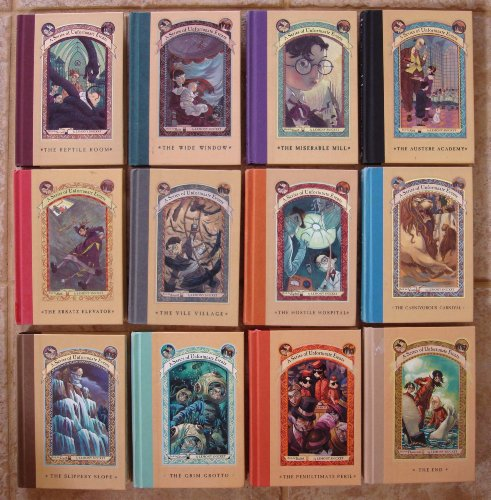 Series of Unfortunate Events Set of 12 Books (Volumes 2 - 13) (Reptile Room ~ Wide Window ~ Miserable Mill ~ Austere Academy ~ Ersatz Elevator ~ Vile Village ~ Hostile Hospital ~ Carnivorous Carnival ~ Slippery Slope ~ Grim Grotto ~ Penultimate Peril ~ The End) (A Series Of Unfortunate Events The Penultimate Peril)