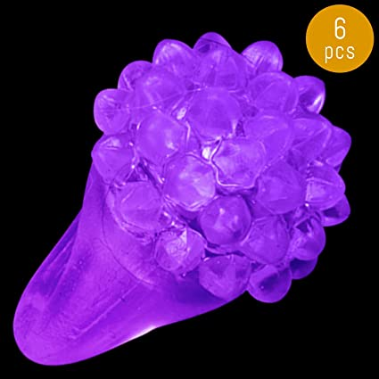 Lumistick LED Flashing Bright Colors Finger Transparent Soft Silicone Bumpy Ring
