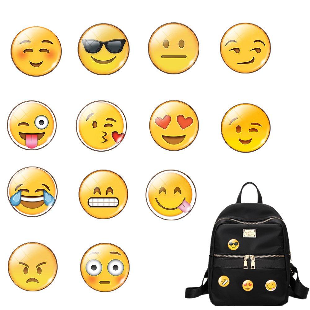 Pin Badge Broche pour sac à dos 13pièces Verre Emoji Broche Décoration Sacs Vêtements Pins Union Tesco AWS-845
