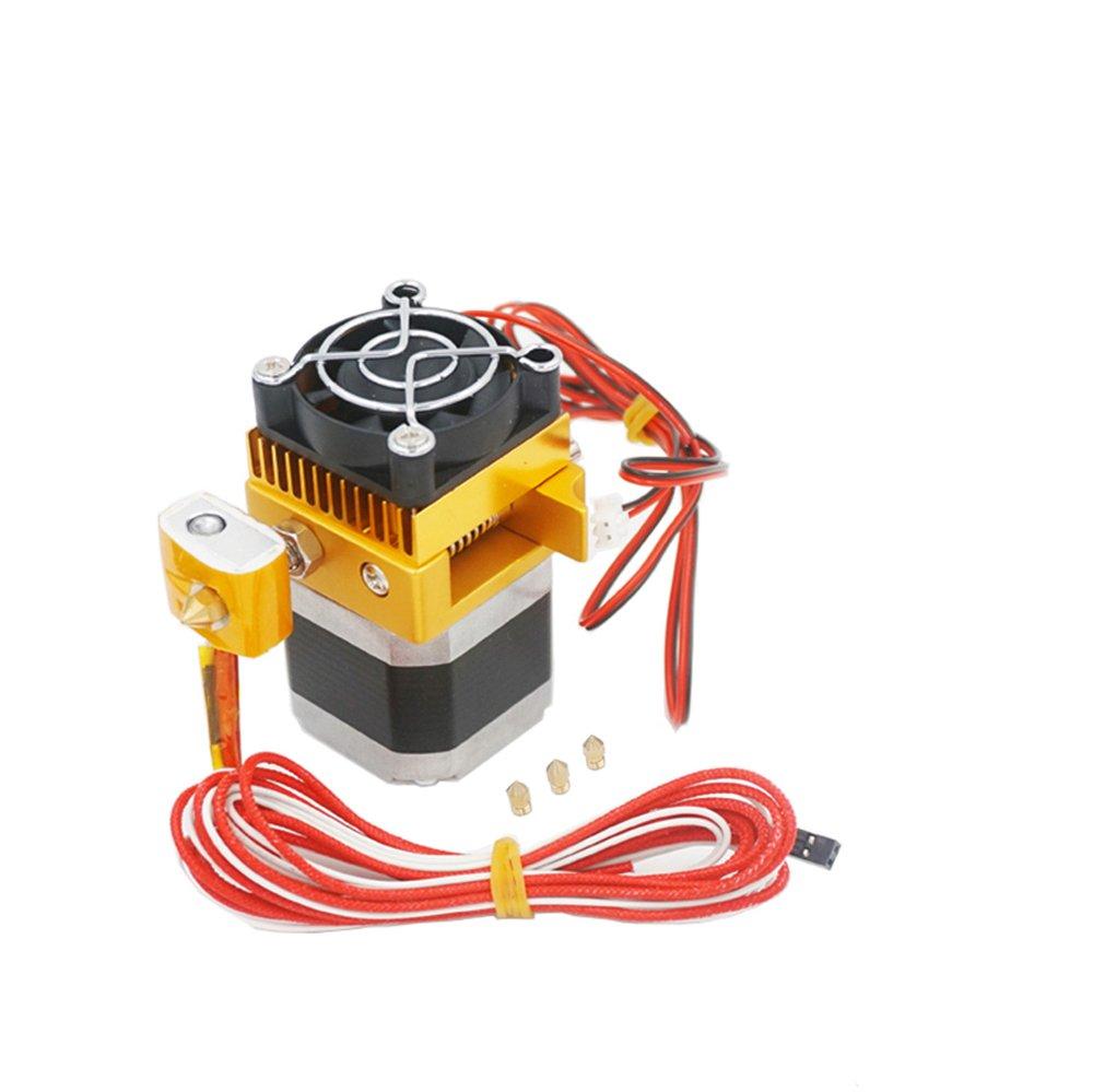 Redrex Assembled MK8 Extruder 0.2/0.3/0.4/0.5mm Print Nozzle Hotend for MakerBot Prusa i3 Reprap 3D Printer 1.75mm Filament Supported