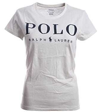 1c3a677ddeb1 Ralph Lauren Polo Damen Rundhals Statement Shirt Vintage Weiß Größe ...