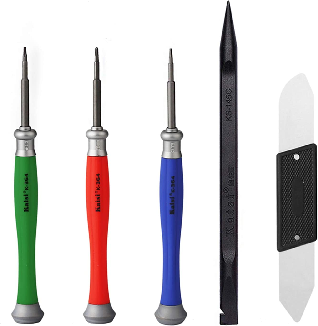 Kaisi 5pcs MacBook Repair Tool Kit Precision P5 Pentalobe Screwdriver, T5 Torx and PH000 Phillips Screwdriver with Ultra-Thin Steel and Nylon Spudgers for MacBook Pro & MacBook Air with Retina Display: Electronics