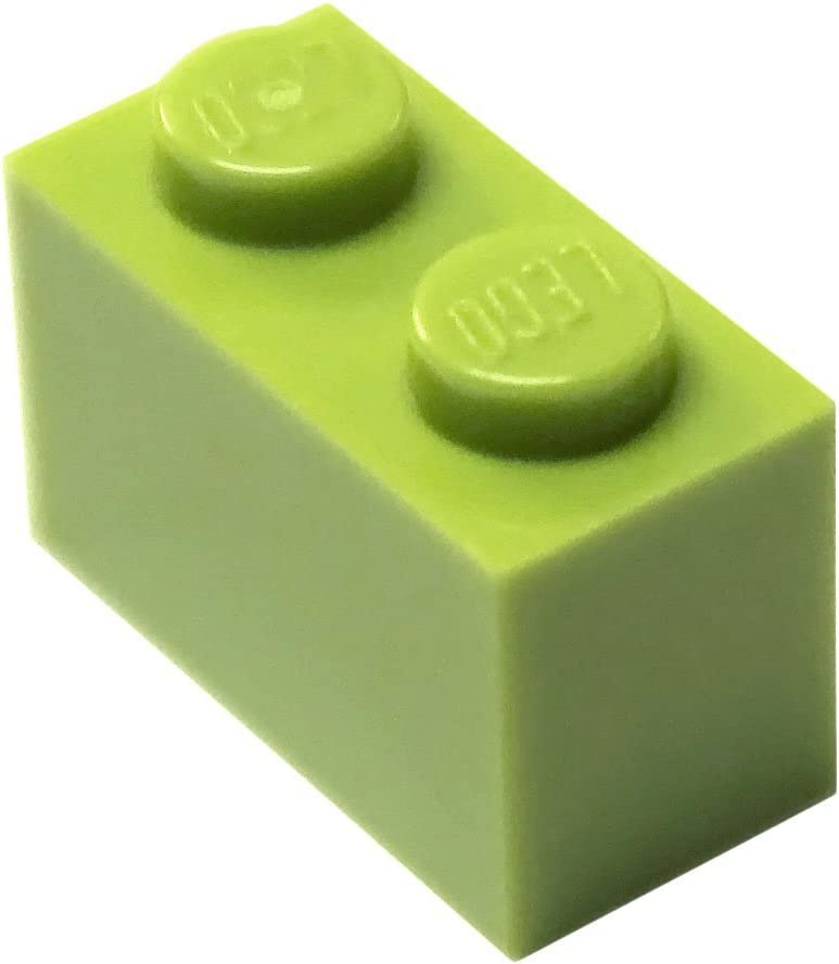 LEGO Parts and Pieces: Lime (Bright Yellowish Green) 1x2 Brick x20