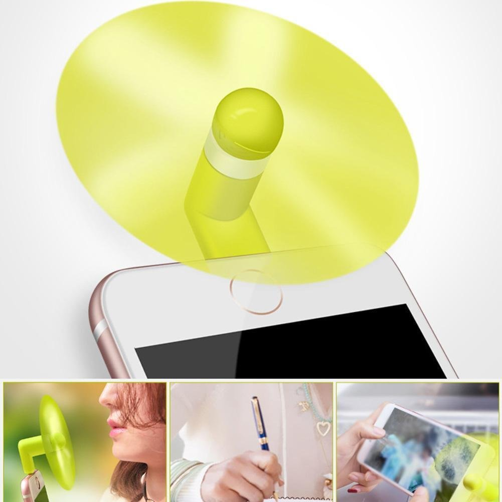 2IN1 Mini USB Fan,Simuer 6-Pack Portable Phone Fan for Android Phone Outdoor Cooling Fan Cool Cooler Rotating Fan