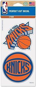 "WinCraft NBA New York Knicks 65438011 Perfect Cut Decal (Set of 2), 4"" x 4"""