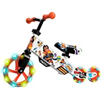 Small Rider Turbo, Bicicleta sin Pedales Equilibrio, Rueda Variable de PU con luz, Asiento y Manillar Ajustables…