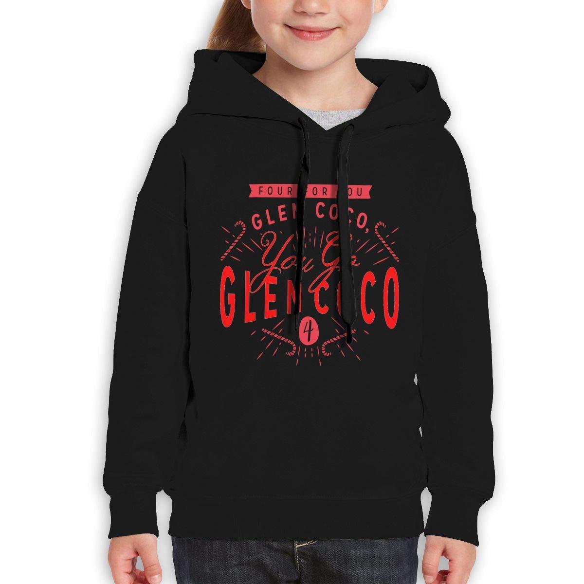 Boys Girls You Go Glen Coco Teen Youth Fleeces Black XL