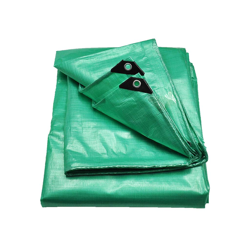 YEIUY Imprägniern Sie Plane Starke Sonnenschutzmittelregenabdeckung mit hoher Dichte Webart, Poncho-Segeltuch im Freien, Fischengartenarbeitgrün, Multi-Größe
