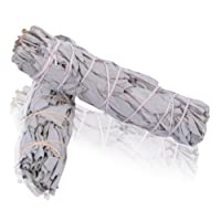 Native-spirit WHITE SAGE Small Smudge Stick 4''-4.5'' (20-25gr.) Incense fresh from California