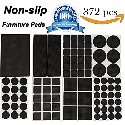 Furniture Pads - 372pcs Lightweight Reduced Non Slip Furniture Pads Heavy Duty Adhesive-Best Chair Leg Covers Feet ALL SIZES - Protect Your Hardwood & Laminate Flooring