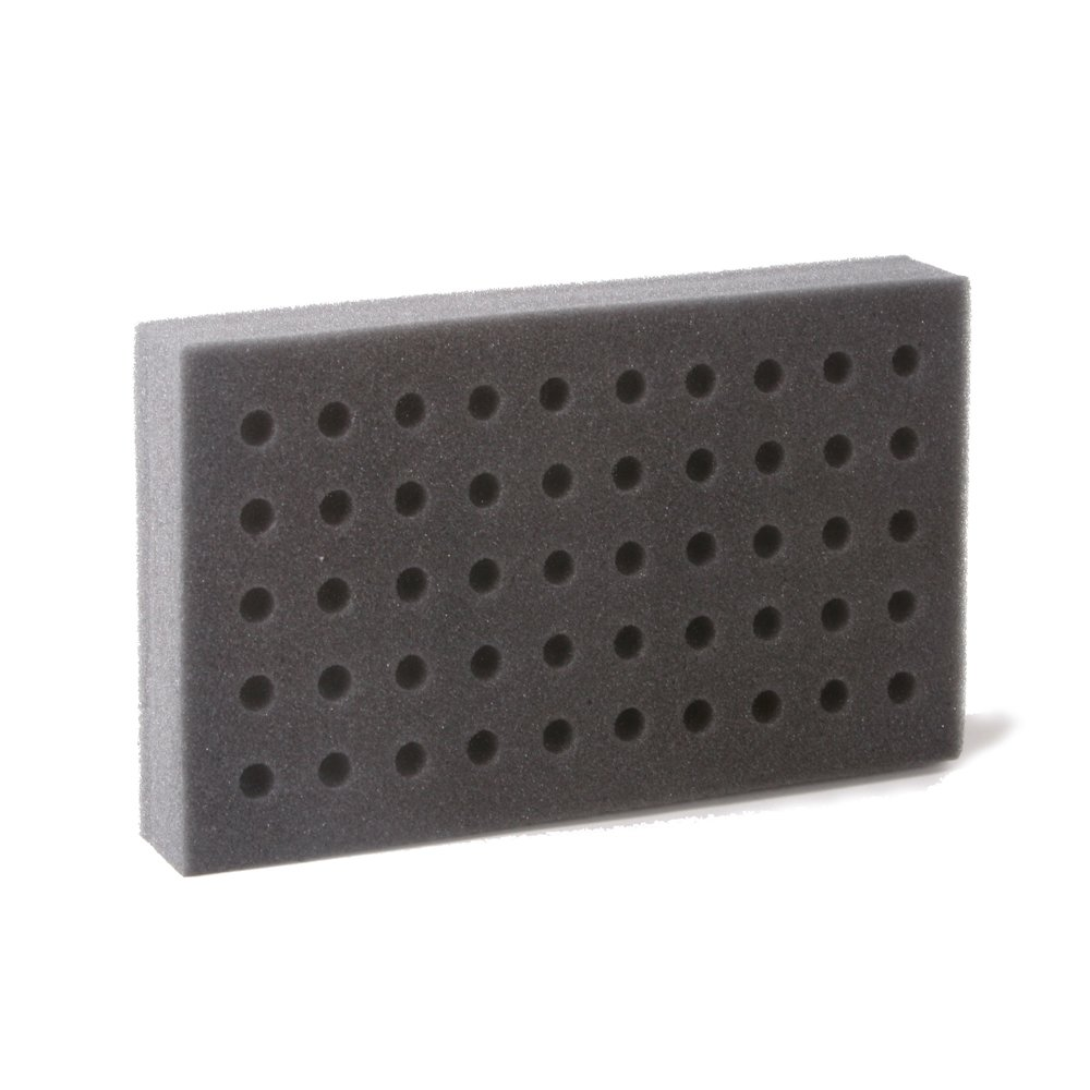 Bio Plas 0010 Polyester Foam Test Tube Rack for 10mm, 12mm and 13mm Test Tubes, 50-Place (Case of 30)