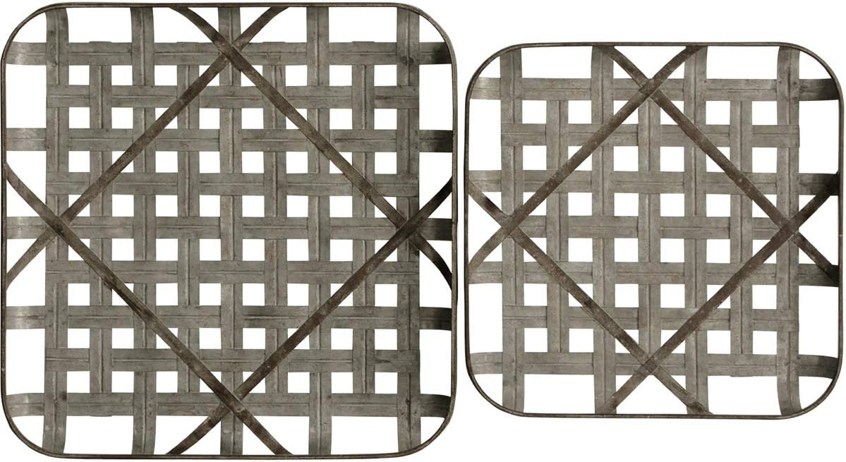 Stylecraft Home Collection Metal Grid Trays Wall Art Set of 2