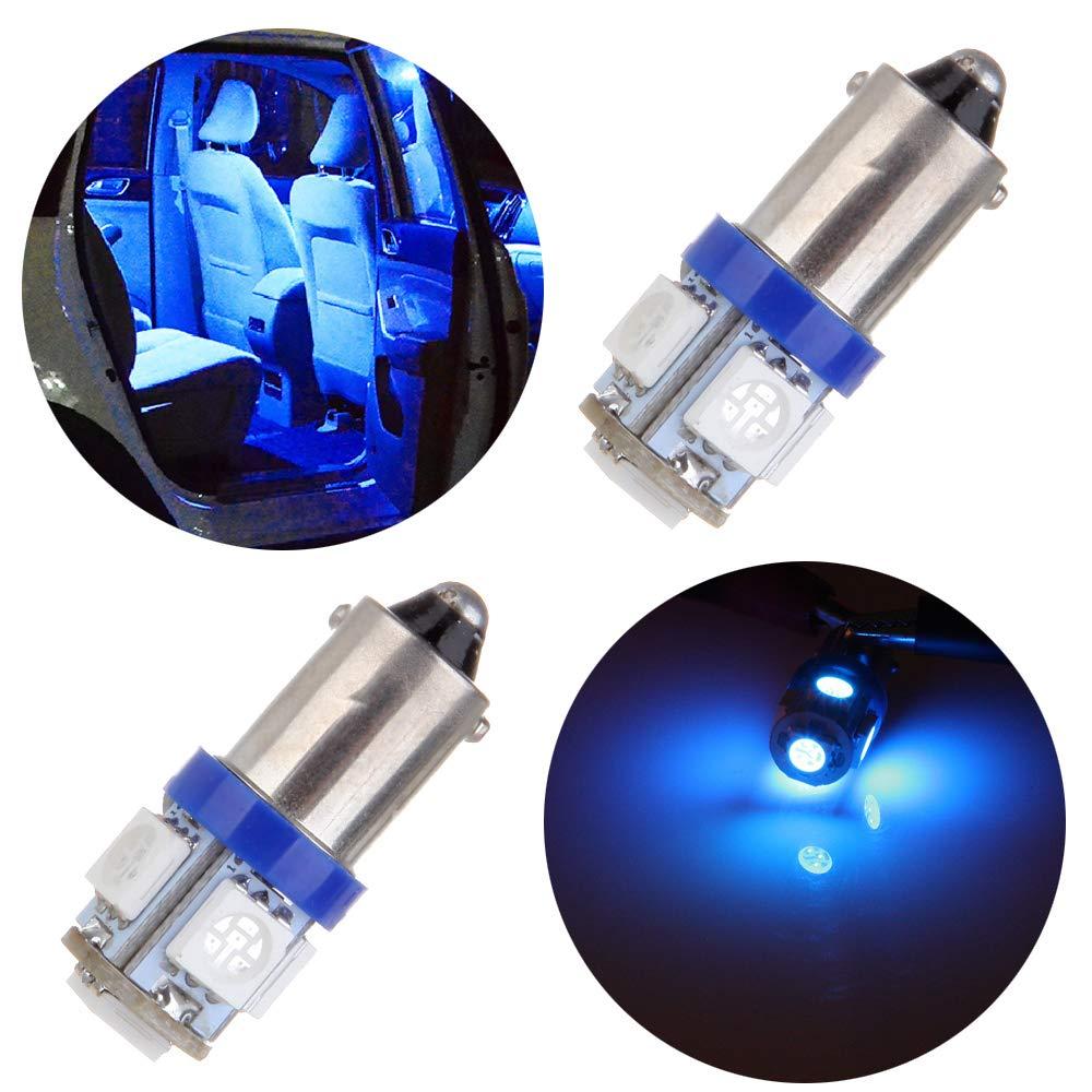 TUPARTS Blue BA9S 1815 1816 182 1889 LED Light Bulbs Instrument Panel Gauge Lights,2Pcs