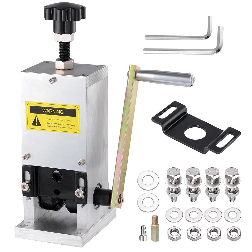 Yescom Manual Wire Stripping Machine+Drill Connector Cable Peeling Stripper Tool for Scrap Copper Recycling 0.06-0.98''