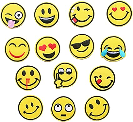 Sew on Embroidery Patches Choice of Designs Emoji Iron on