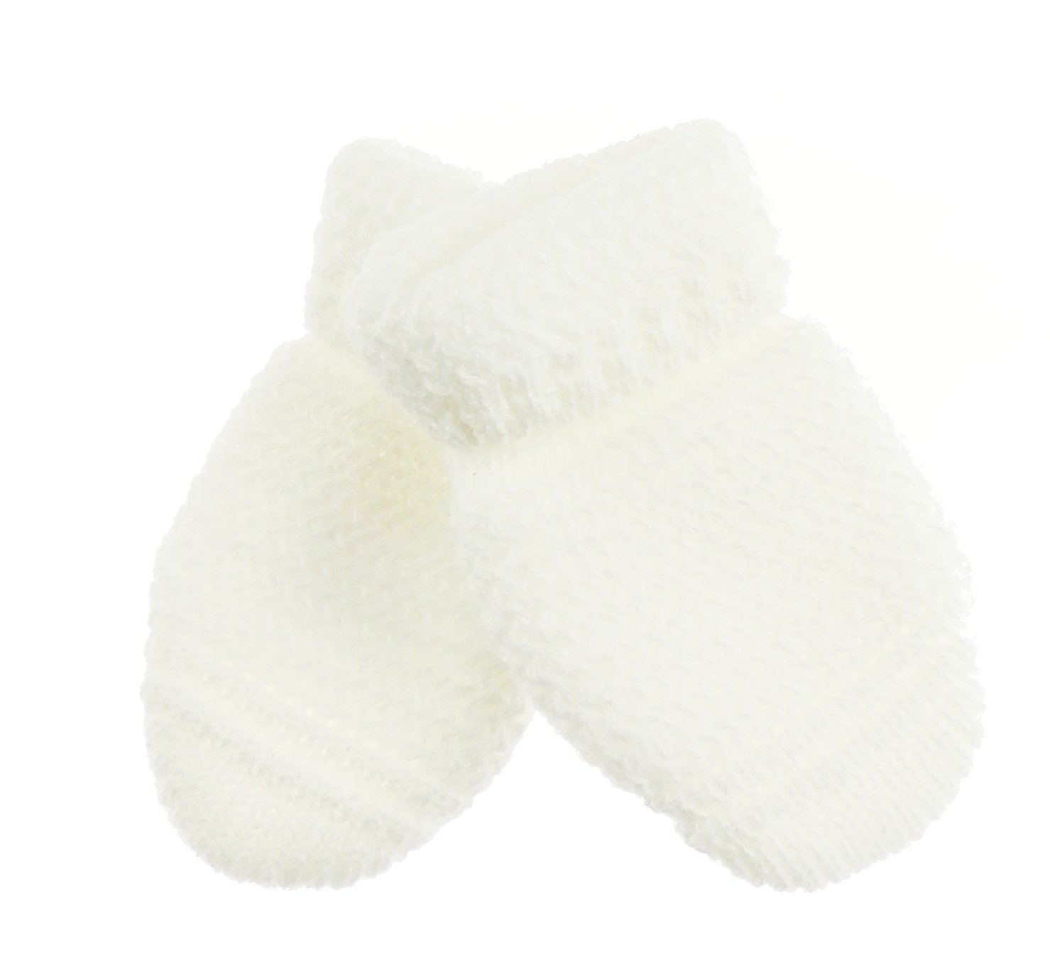 Baby Girls Boys Scratch Mittens Blue White